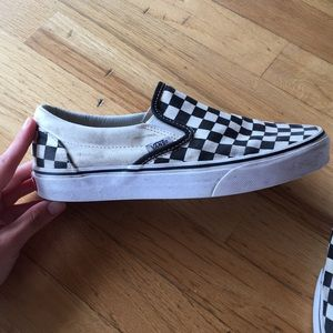 Vans Shoes - Black and White Checkered Vans